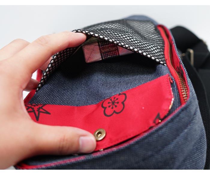 CHIGIRI ちぎり 和柄 ボディ ショルダー バッグ 日本製 BAG 鞄 金襴 唐草 CHS41-128 送料無料【ちぎりから新作和柄バッグが登場!!】