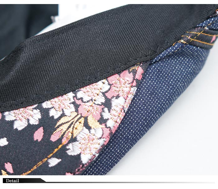 CHIGIRI ちぎり 和柄 ハンチング キャップ 帽子 CAP 日本製 金襴 デニム CHS41-594 送料無料【ちぎりから新作和柄ハンチングが登場!!】