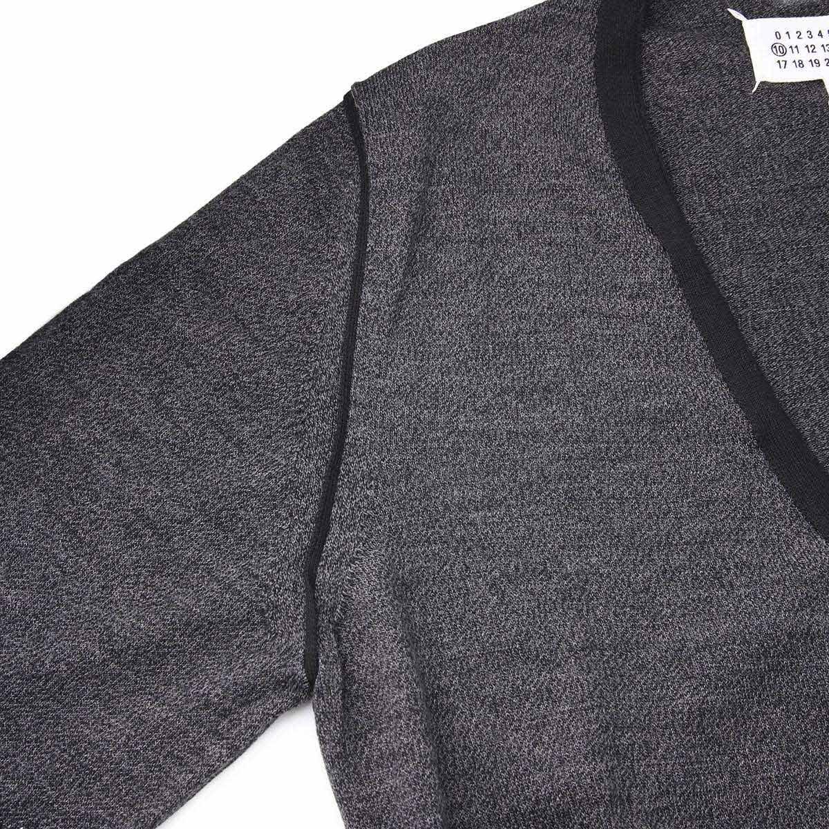 Maison Margiela メゾンマルジェラ Vネック カーディガン/10 男性のためのコレクション メンズ