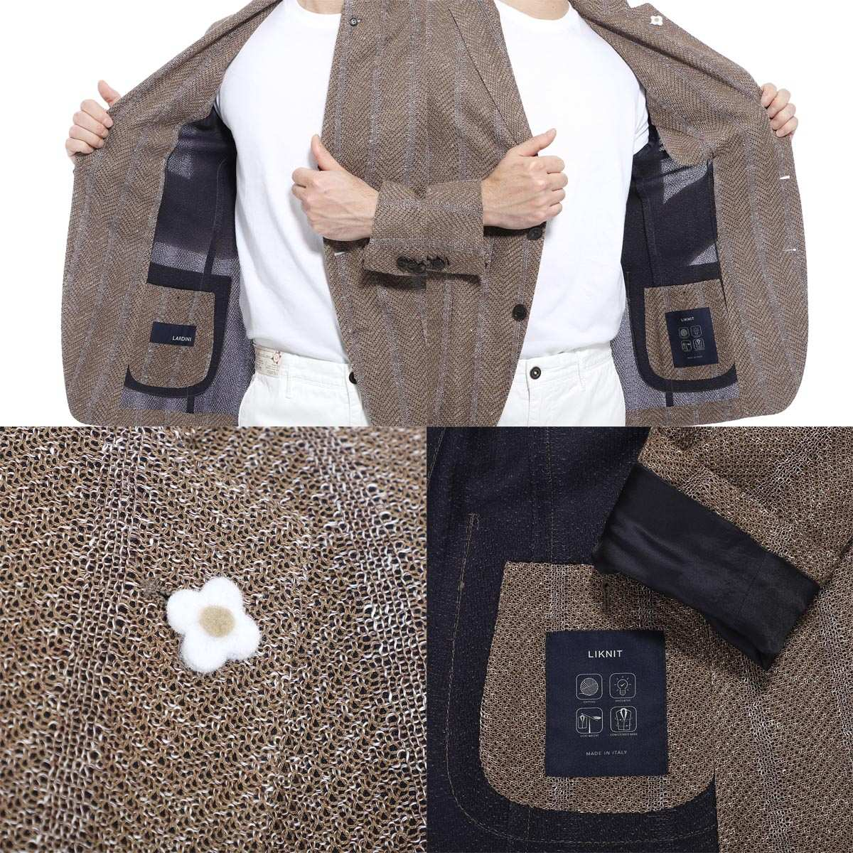 【3万円均一】LARDINI ラルディーニ 2つボタンジャケット【大きいサイズあり】 メンズ
