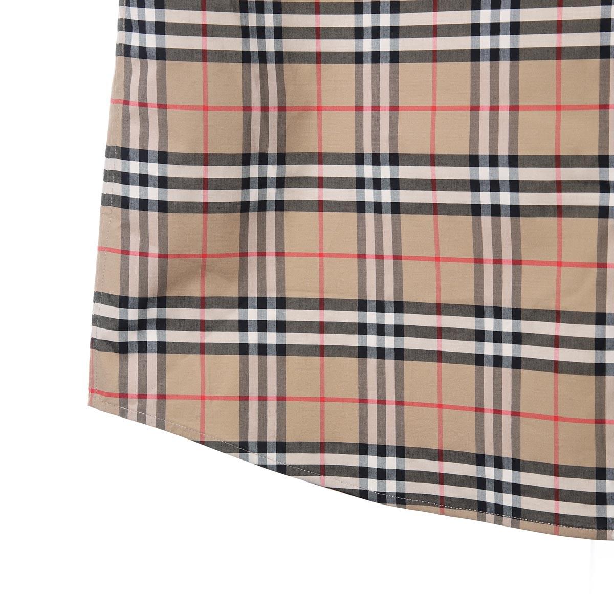 BURBERRY バーバリー  半袖シャツ/SHORTSLEEVE SMALLSCALECHECK STRETCH COTTON SHIRT メンズ