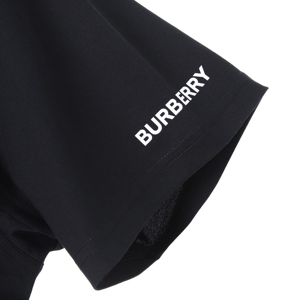 BURBERRY バーバリー クルーネック Tシャツ/MONTAGEPRINT COTTON OVERSIZED T-SHIRTメンズ