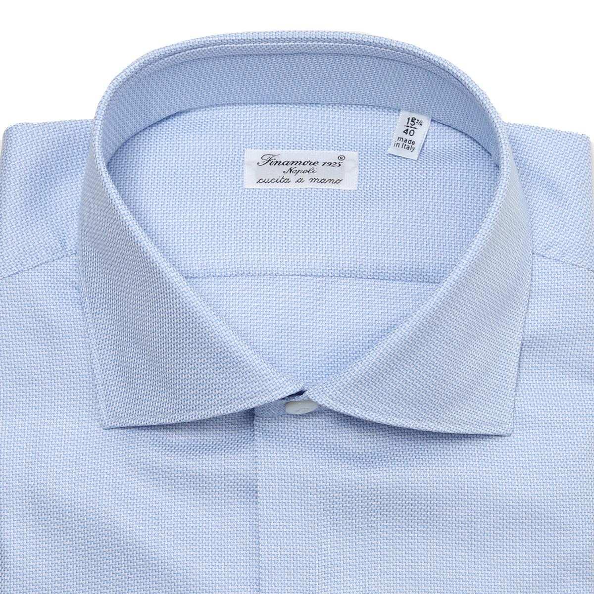 【タイムセール TOPS】【アウトレット】FINAMORE フィナモレ ワイドカラーシャツ/ZANTE MILANO メンズ