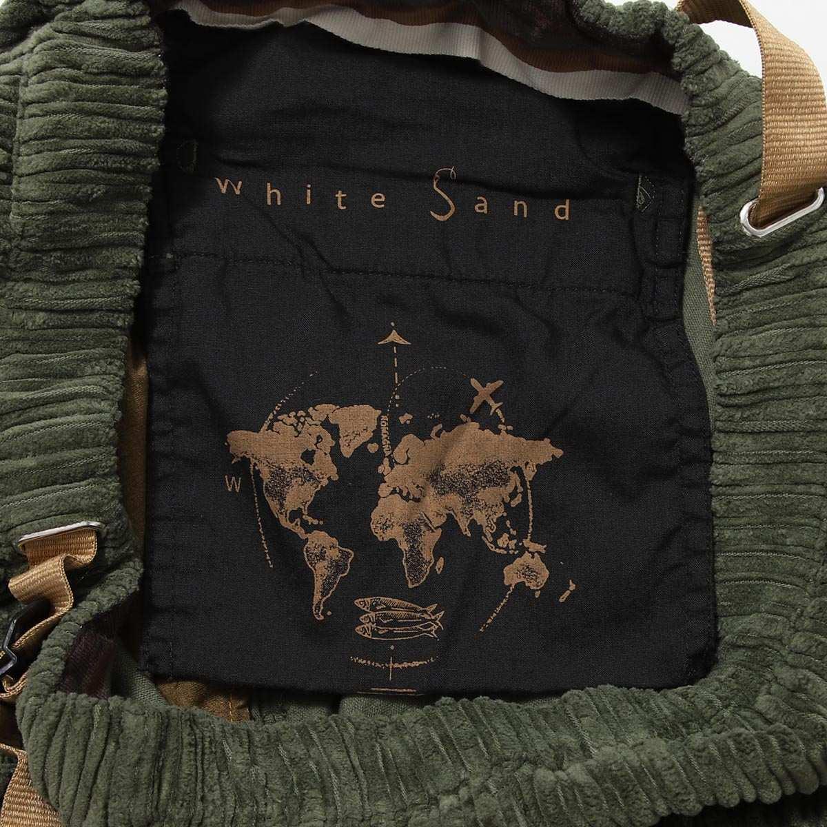 White Sand ホワイトサンド ベルト付き コーデュロイパンツ メンズ