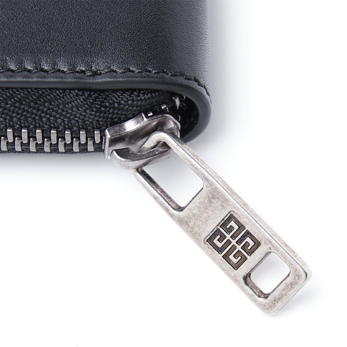 【アウトレット】【ロングセラー】GIVENCHY ジバンシー ラウンドファスナー 長財布 小銭入れ付き メンズ