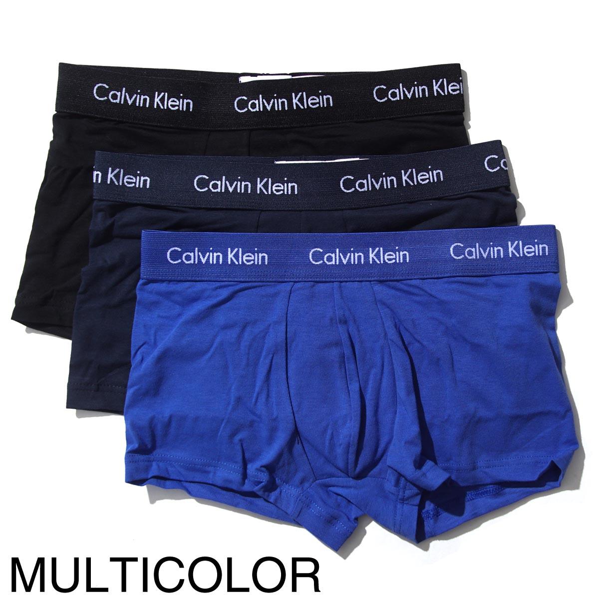 Calvin Klein カルバンクライン ボクサーパンツ 3枚セット/3 LOW RISE TRUNK スリー ローライズ ライズ トランク【返品交換不可】 メンズ