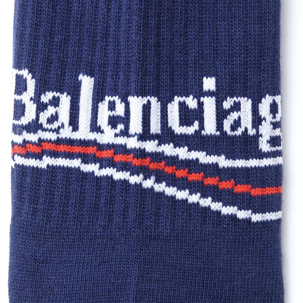 【タイムセール ACCS】BALENCIAGA バレンシアガ 靴下/ソックス/POLITICAL TENNIS SOCKS【返品交換不可】 メンズ