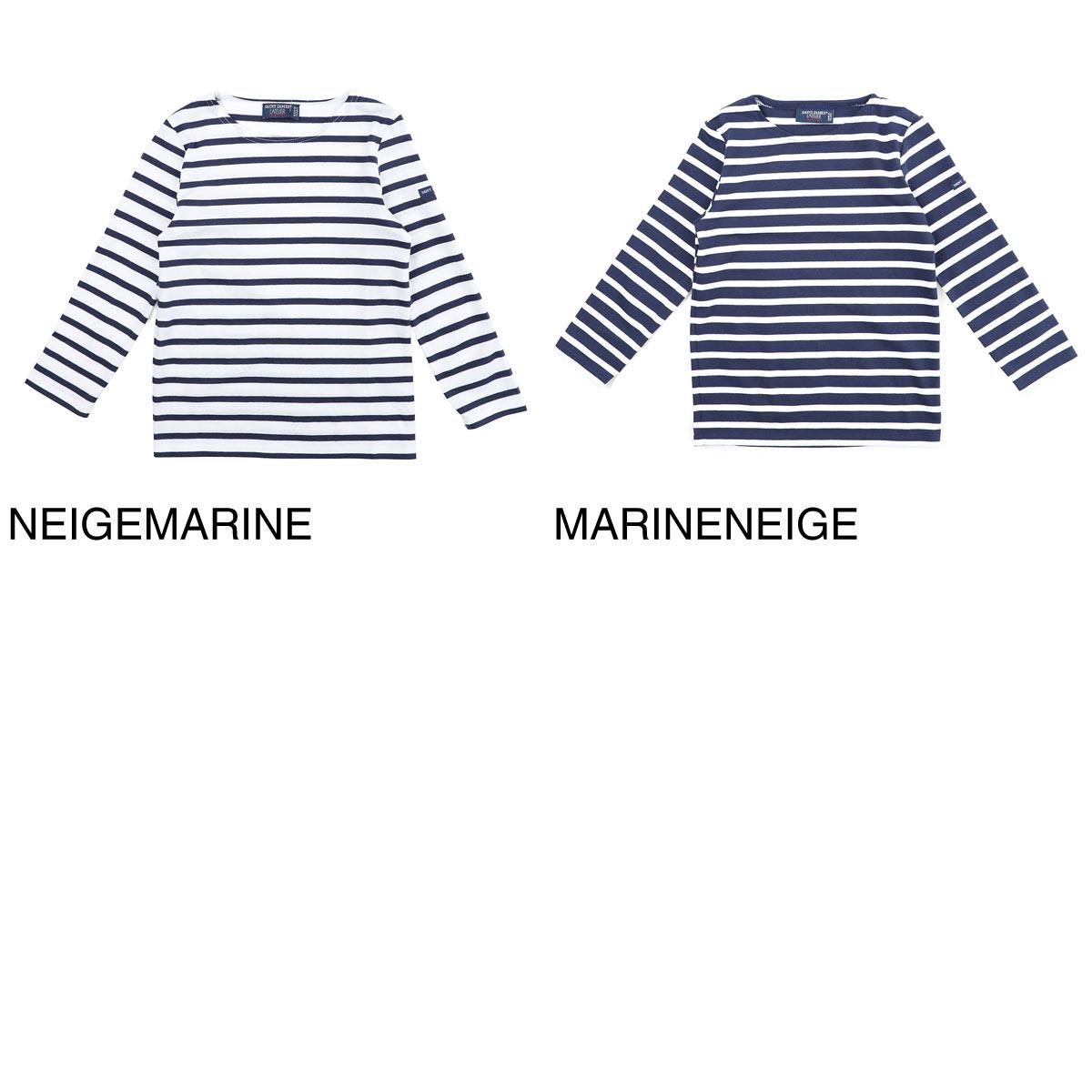 【タイムセール TOPS】【ロングセラー】SAINT JAMES セントジェームス クルーネック 長袖Tシャツ/Tシャツ/MINQUIERS MODERN キッズ