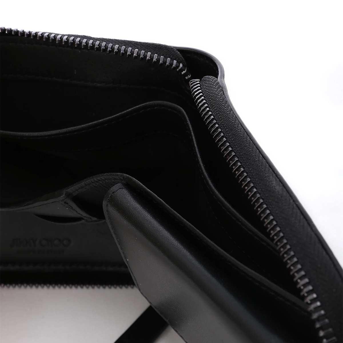 【大感謝祭】JIMMY CHOO ジミーチュウ 2つ折り 財布 小銭入れ付き/LAWRENCE メンズ