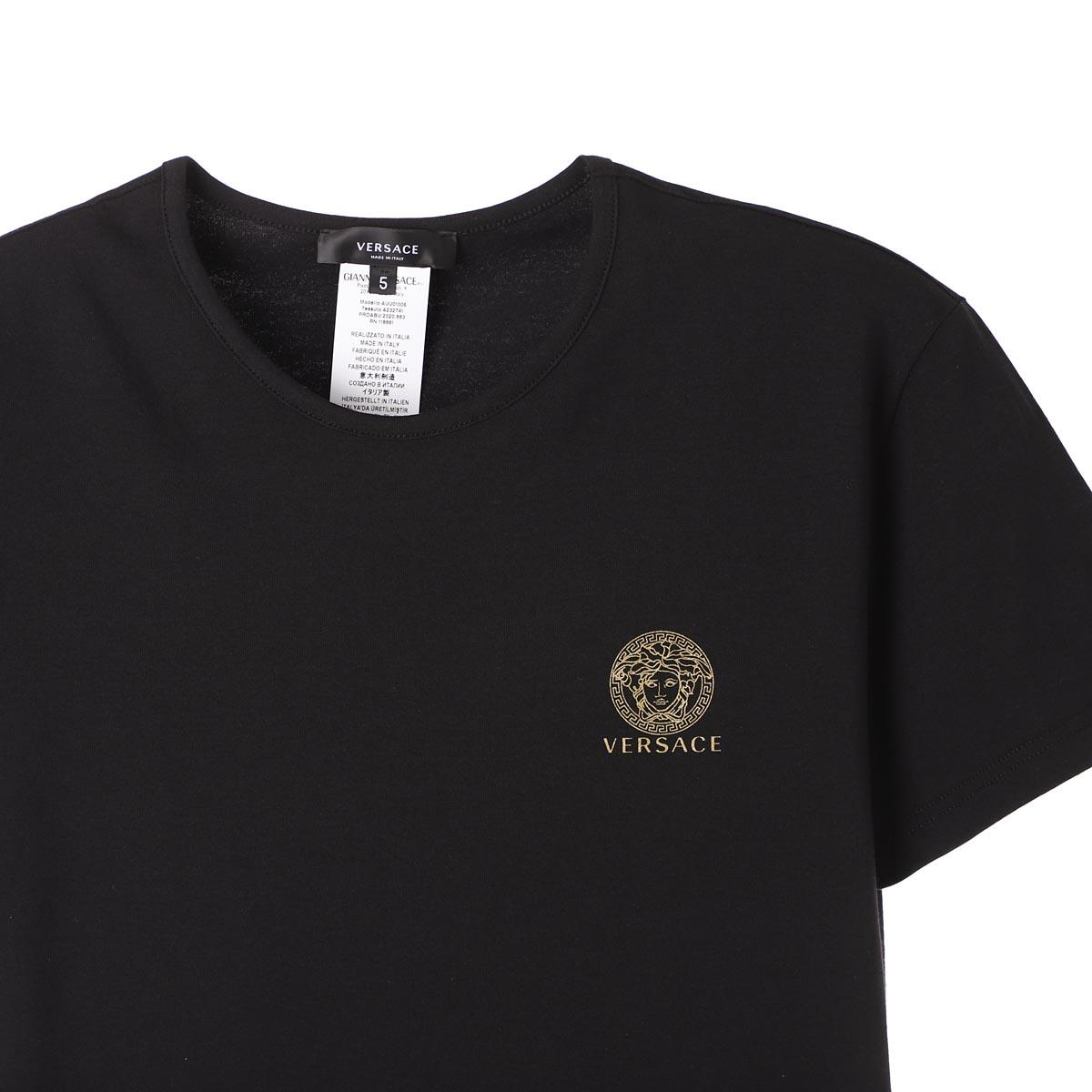 【アウトレット】VERSACE ヴェルサーチェ クルーネック Tシャツ 2枚セット【返品交換不可】