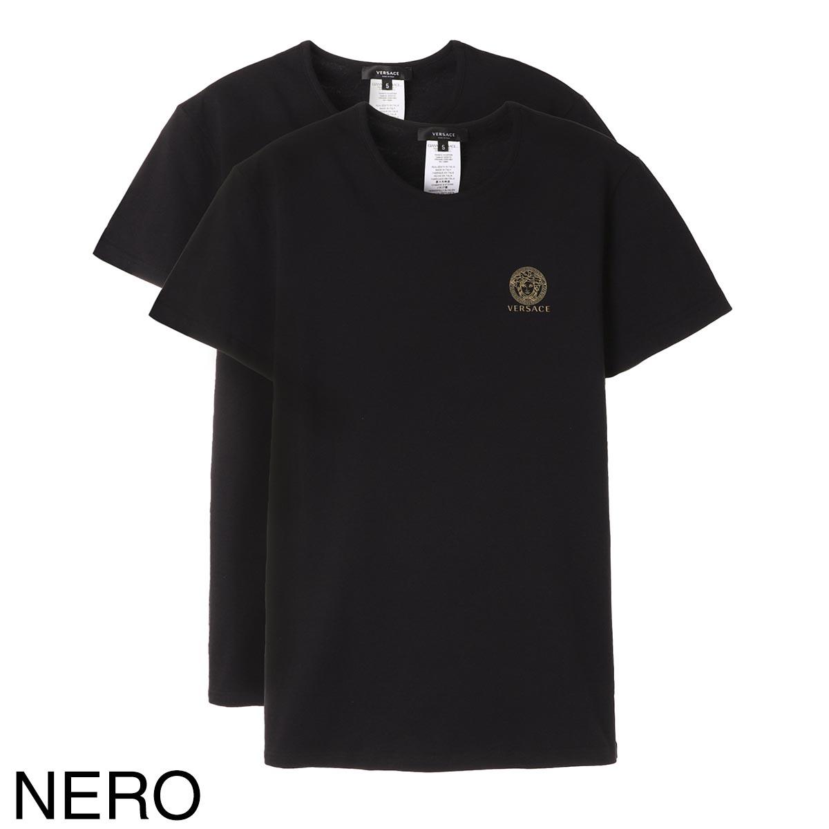 VERSACE ヴェルサーチェ クルーネック Tシャツ 2枚セット【返品交換不可】