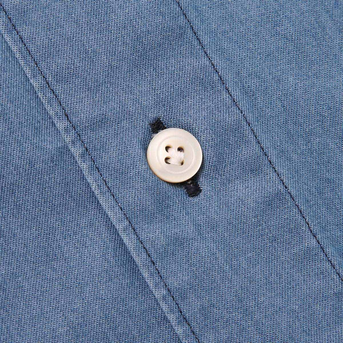 【アウトレット】FINAMORE フィナモレ ワイドカラーシャツ/LUIGI GENOVA【大きいサイズあり】 メンズ