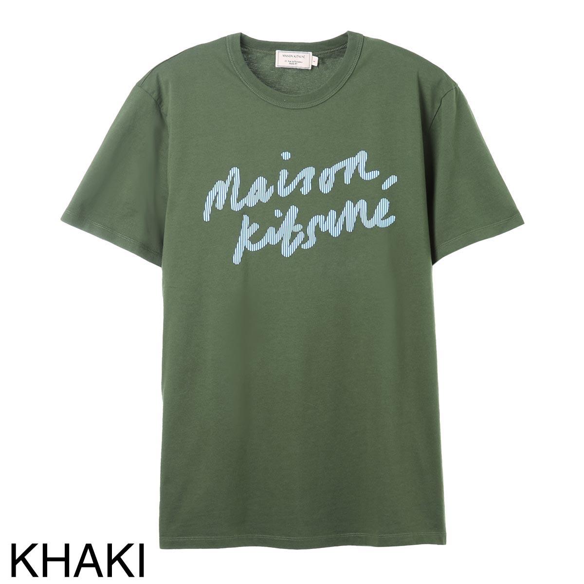 MAISON KITSUNE メゾンキツネ クルーネック Tシャツ/HANDWRITING CLASSIC TEE-SHIRT メンズ