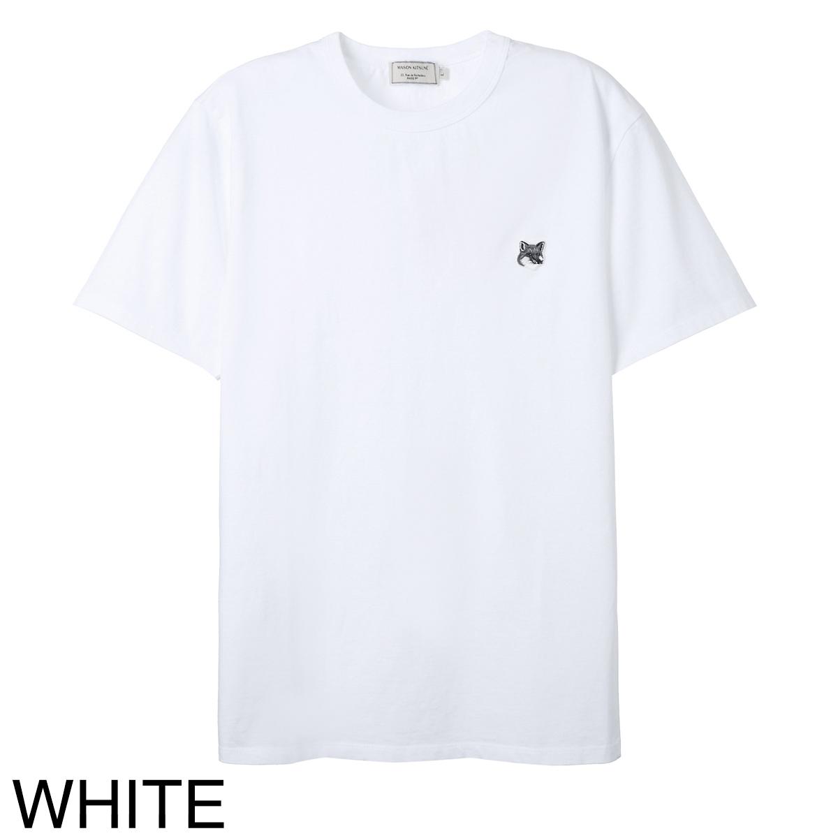 MAISON KITSUNE メゾンキツネ クルーネック Tシャツ/GREY FOX HEAD PATCH CLASSIC TEE-SHIRT メンズ