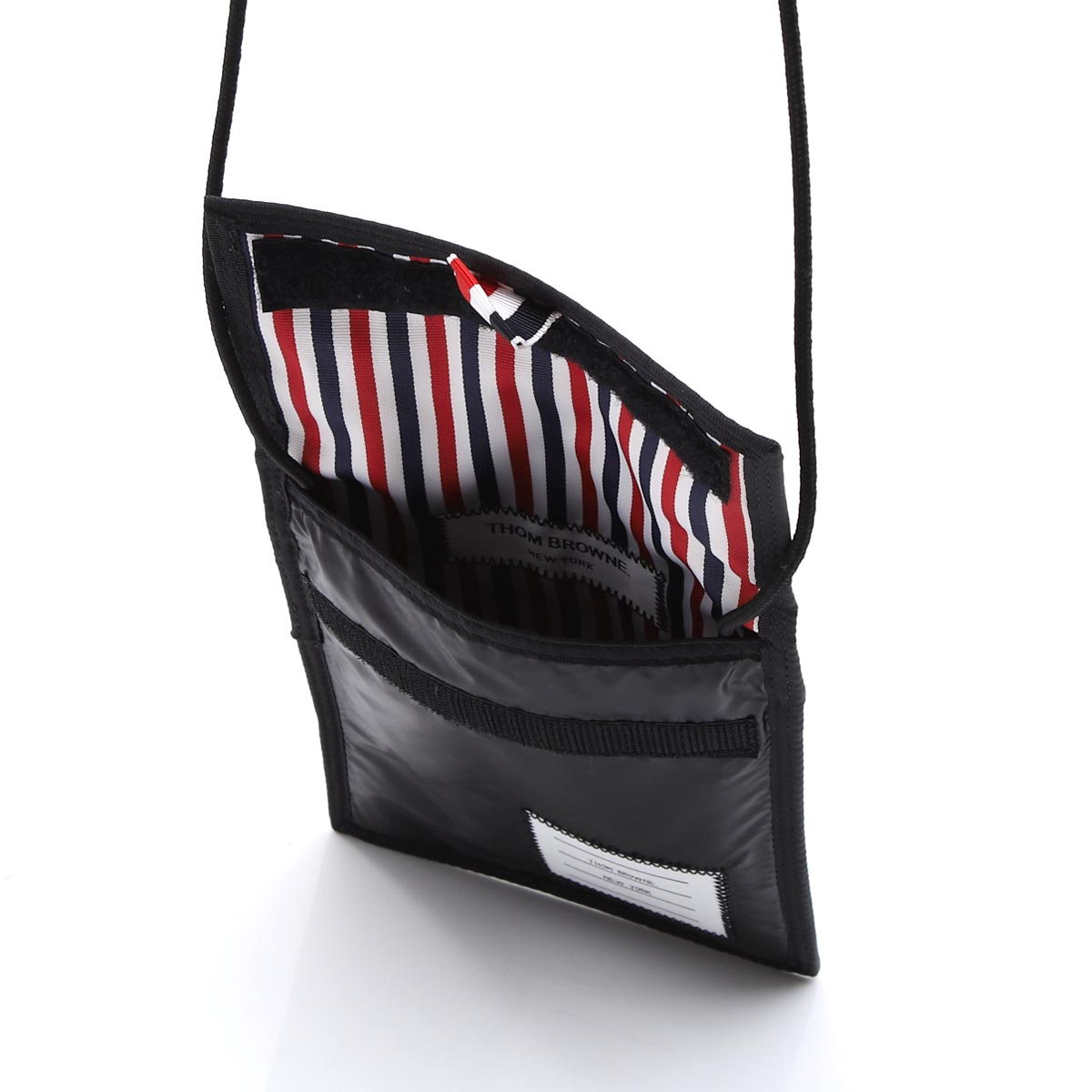 THOM BROWNE. トムブラウン ポーチ/ショルダーバッグ/VELCRO DRAWCORD NECK POUCH IN RIPSTOP メンズ