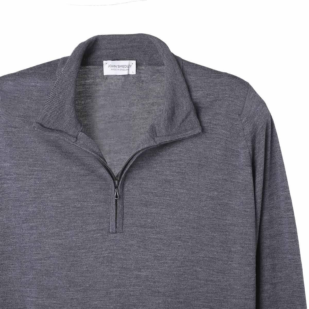 【タイムセール TOPS】JOHN SMEDLEY ジョンスメドレー ハーフジップ セーター/ハイネックセーター/BARROW バロー 30ゲージ メンズ
