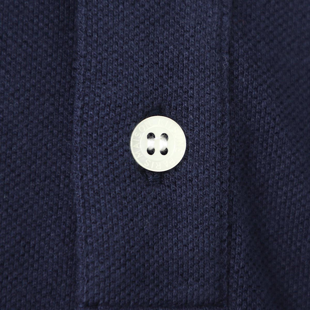 【アウトレット】【ラスト1点】MAISON KITSUNE メゾンキツネ ポロシャツ/TRICOLOR FOX PATCH CLASSIC POLO メンズ