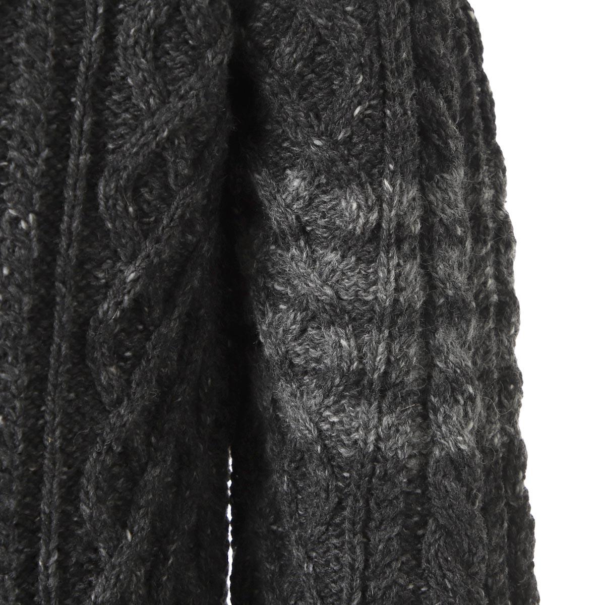 【タイムセール TOPS】THOM BROWNE. トムブラウン クルーネック セーター/W/ 4 BAR ARAN CABLE PULLOVER メンズ
