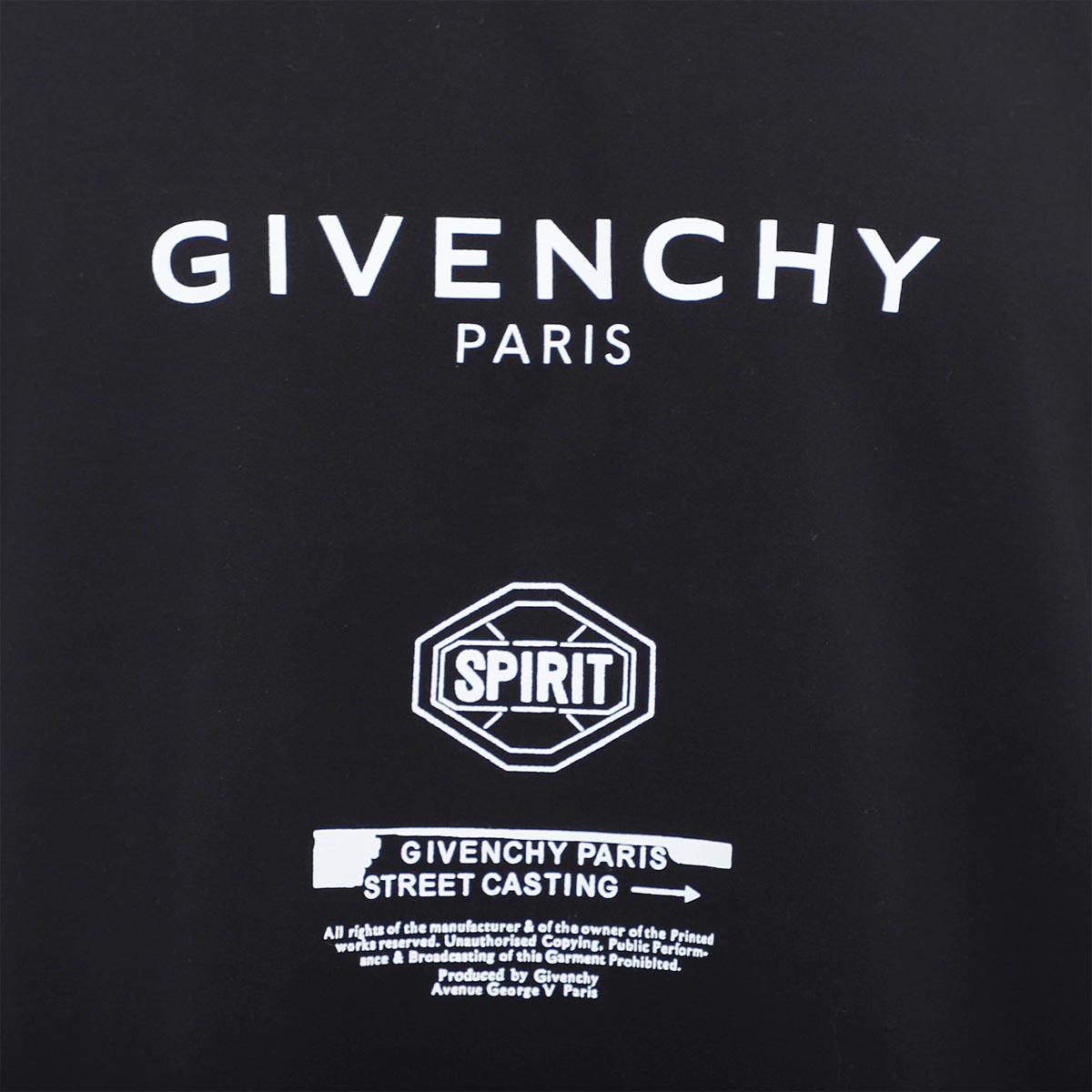 【アウトレット】【ラスト1点】GIVENCHY ジバンシー クルーネックTシャツ/SPIRIT PRINT OVERSIZED FIT T-SHIRT メンズ