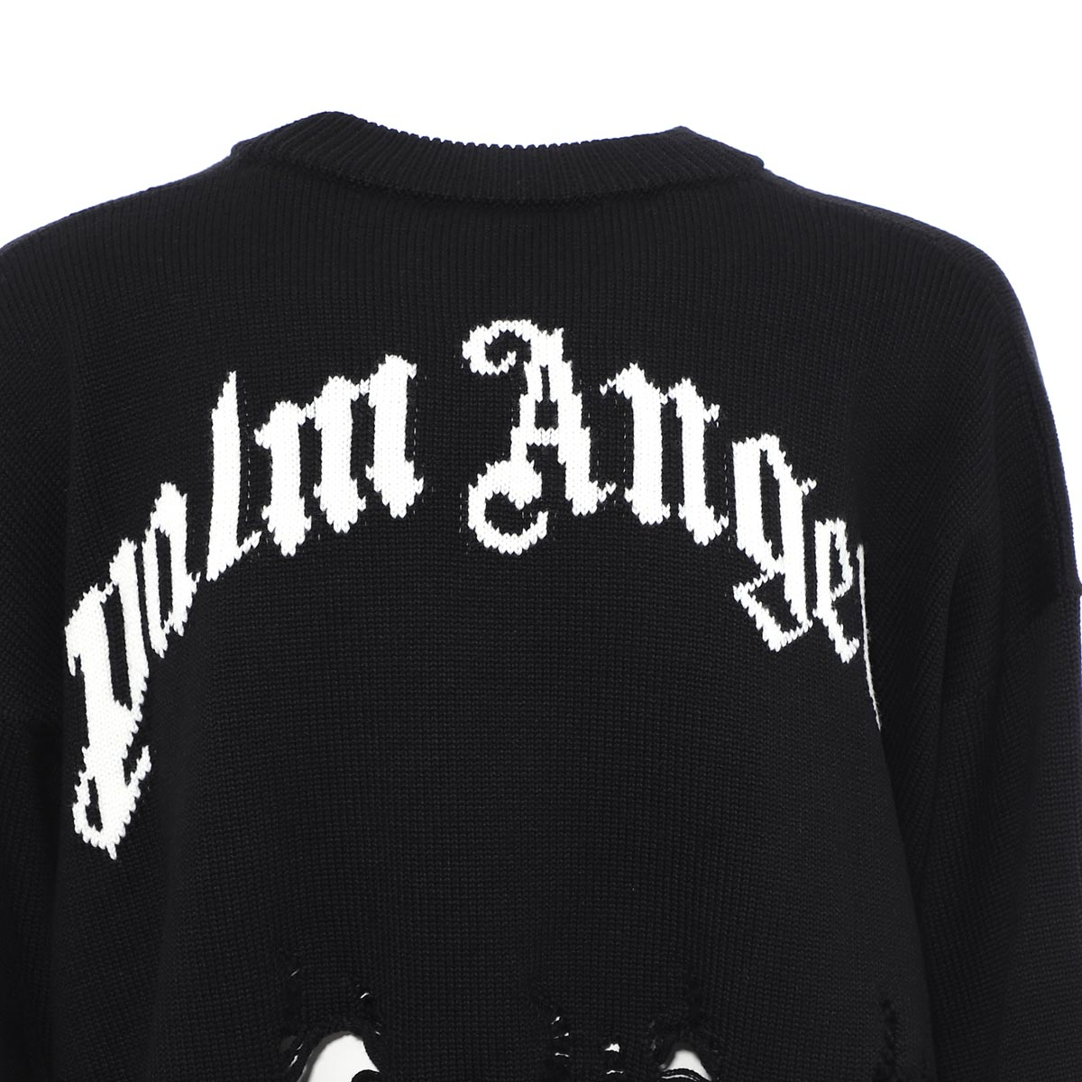 PALM ANGELS パーム エンジェルス クルーネック セーター/DISTRESSED FLAMES SWEATER メンズ