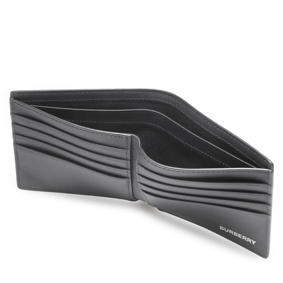 【タイムセール】BURBERRY バーバリー 2つ折り財布/LONDON CHECK & LEATHER INTERNATIONAL BIFOLD WALLET メンズ