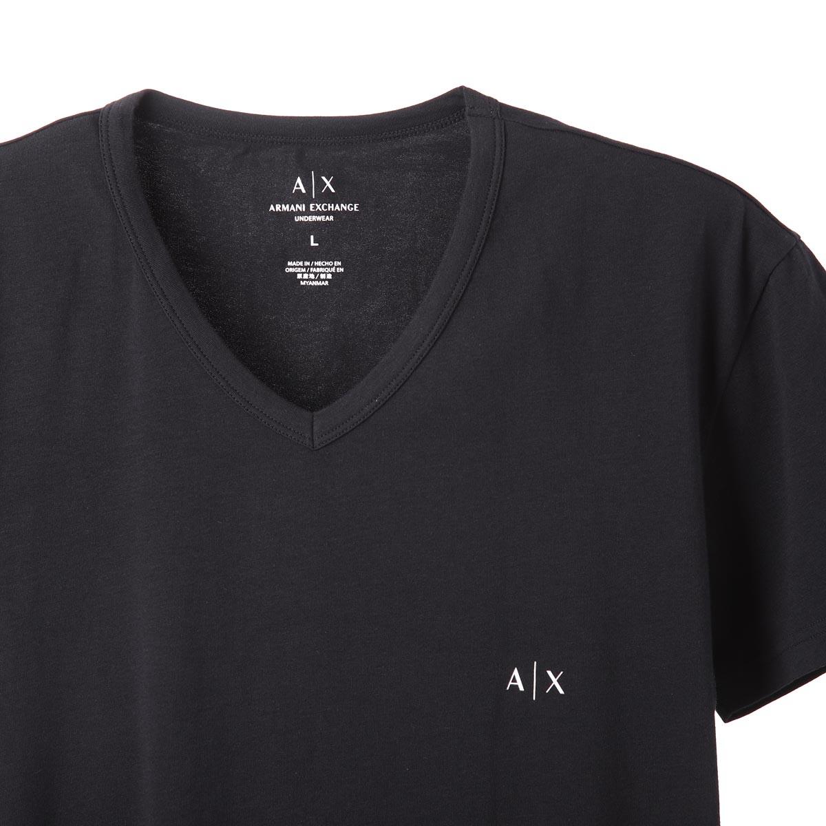ARMANI EXCHANGE アルマーニエクスチェンジ Vネック アンダーTシャツ 2枚セット【返品交換不可】 メンズ