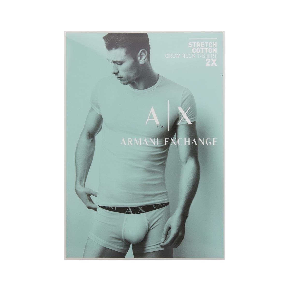 ARMANI EXCHANGE アルマーニエクスチェンジ クルーネック アンダーTシャツ 2枚セット【返品交換不可】 メンズ