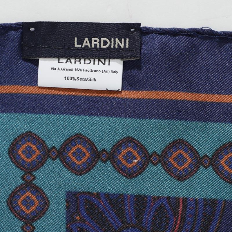 【第517回チャリティー企画】LARDINI  ラルディーニ スカーフ/チーフ/PRINT SCARF メンズ