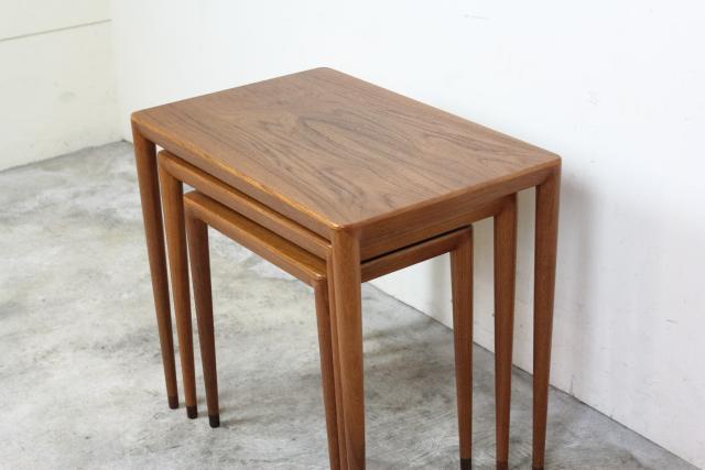 デンマーク  ネストテーブル チーク す94-1
