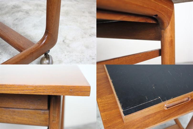 イギリス ネストテーブル 引き出し付き キャスター付き ヴィンテージ す65-1