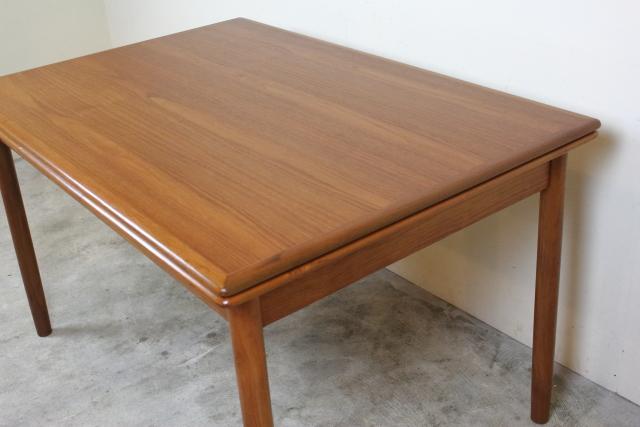 デンマーク エクステンションダイニングテーブル 北欧 チーク さ73