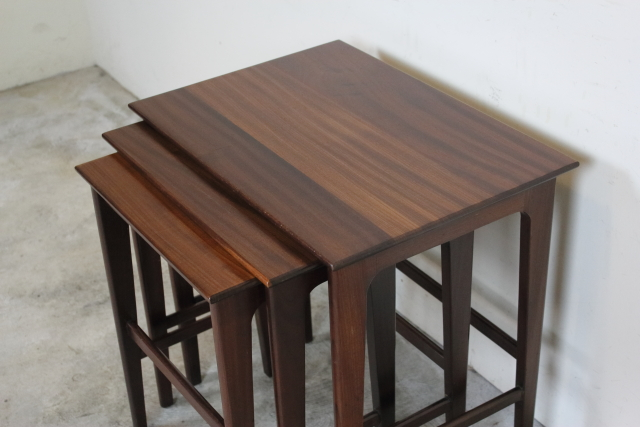 デンマーク ネストテーブル ローズウッド  あ46