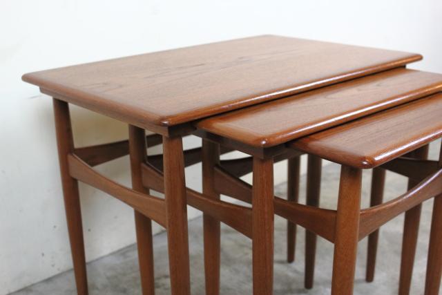 デンマーク ネストテーブル チーク ヴィンテージ き147-2