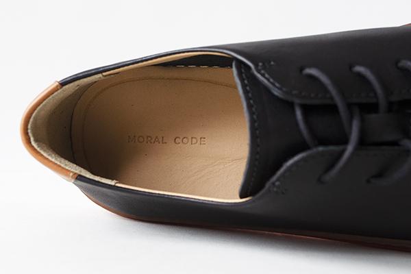 レザースニーカー メンズ ブラック 黒 COVE コーブ