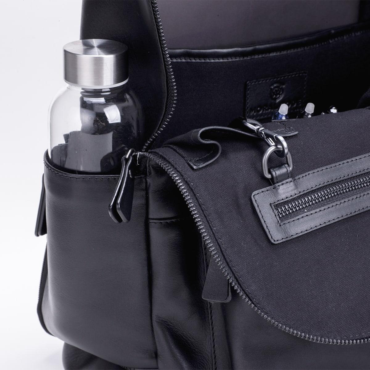 レザーリュック メンズビジネス DESMOND-II  デスモンド2 ブラック 黒