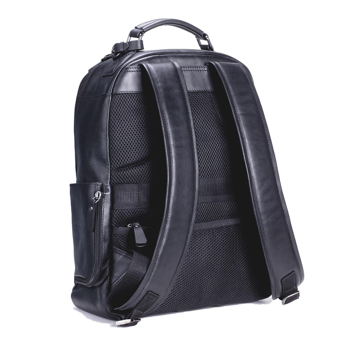 ビジネス レザーリュックサック メンズ DESMOND-II  デスモンド2 ブラック 黒