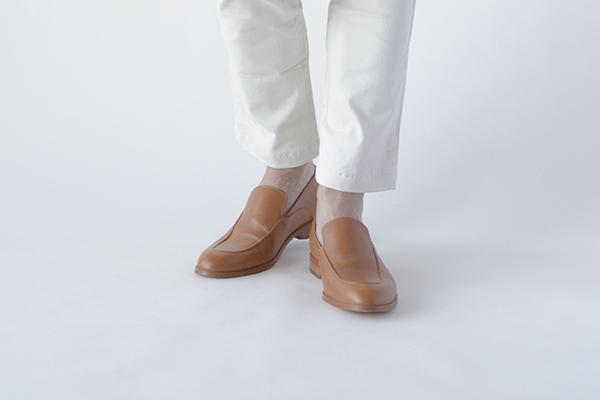 革靴 メンズ  RONAN ローナン コニャック 茶 スリッポン