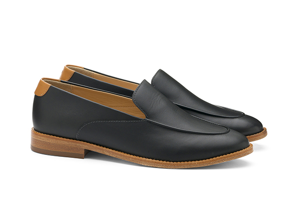 革靴カジュアル レディース RAVEN ラベン ブラック 黒 スリッポン
