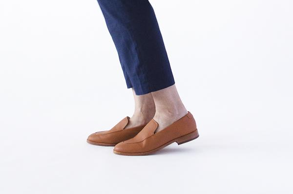 革靴カジュアル レディース RAVEN ラベン コニャック 茶 スリッポン