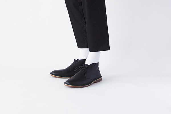 革靴カジュアル FORREST フォレスト ブラック 黒 チャッカーブーツ