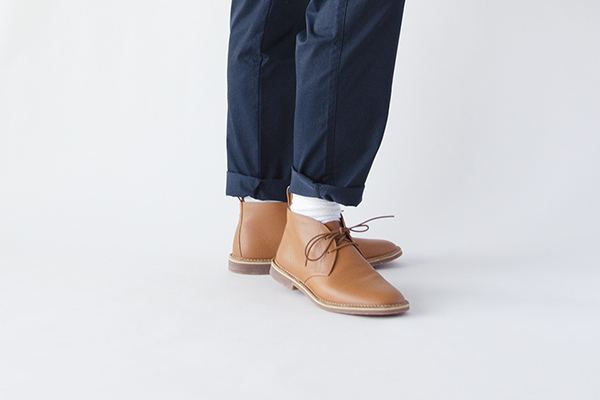 革靴カジュアル FORREST フォレスト コニャック 茶 チャッカーブーツ