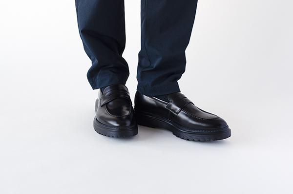 革靴カジュアル ローファー JAXON ジャクソン ブラック 黒