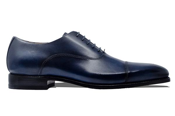 革靴 ストレートチップ内羽根 CLEMATIS クレマティス ネイビー グッドイヤーウェルト