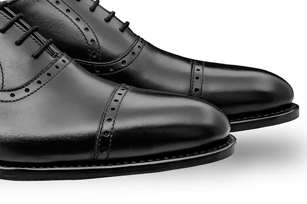 革靴 ストレートチップ内羽根 AARON アーロン ブラック グッドイヤーウェルト