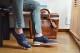 革靴カジュアル MARSHALL マーシャル ネイビー メッシュ