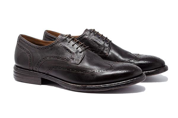 革靴カジュアル BALDO バルド 外羽根 ウイングチップ ダークブラウン