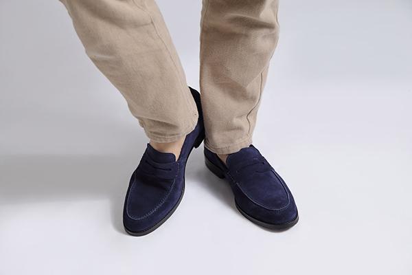 スエードローファー WALKER ウォーカー ネイビー 革靴カジュアル