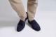 革靴カジュアル スエードローファー WALKER ウォーカー ネイビー