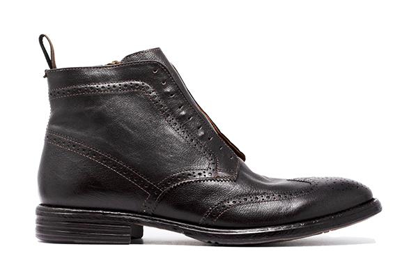 革靴カジュアル FABIO ファビオ 外羽根 ブーツ ウイングチップ ダークブラウン