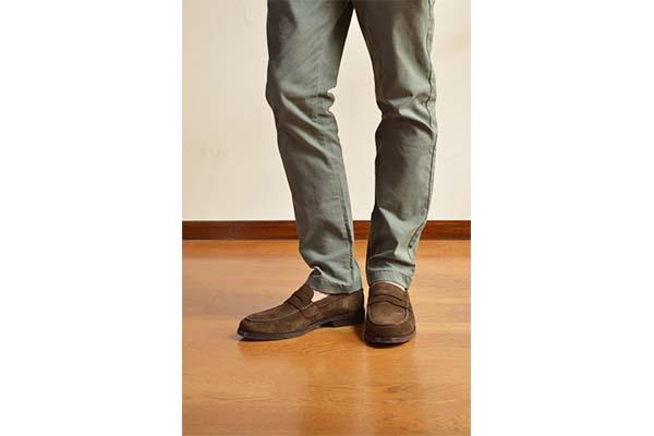 革靴カジュアル スエードローファー WALKER ウォーカー コーヒー